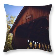 The Covered Bridge Throw Pillow
