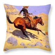 The Cowboy 1902 Throw Pillow