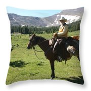 The Cowboy #5 Throw Pillow