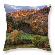 The Cows Are In The Dell  Throw Pillow