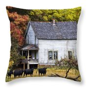 The Cows Came Home Throw Pillow