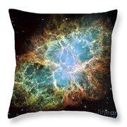 The Crab Nebula Throw Pillow