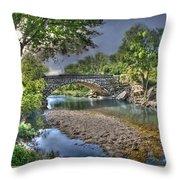 The Crabb Creek Bridge Throw Pillow
