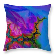 The Crawling Serpent Throw Pillow