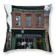 The Creamery Throw Pillow