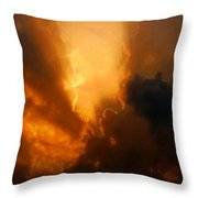 The Creation Of Light Throw Pillow