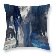 The Creekside Bath Of Alice In Royal Blue Throw Pillow
