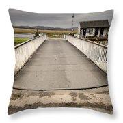 The Crinan Canal Throw Pillow
