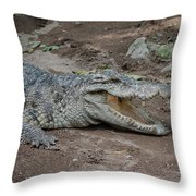 The Croc Throw Pillow