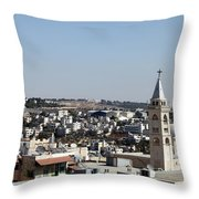 The Cross And The Wall Throw Pillow