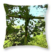 The Cross In Nature Throw Pillow