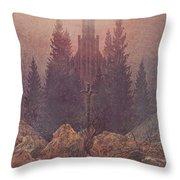 The Cross In The Mountains 1812  By Caspar David Friedrich 1774-1840 Throw Pillow