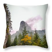 The Cross On The Top Of The Mountain Throw Pillow