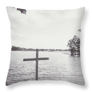 The Cross On The Water Throw Pillow