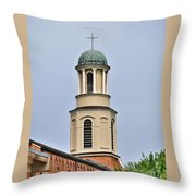 The Cross On Top Throw Pillow