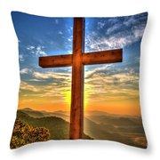 The Cross The Choice Pretty Place Chapel Greenville South Carolina Art Throw Pillow