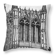 The Crossing Tower Throw Pillow