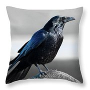 The Crow Throw Pillow