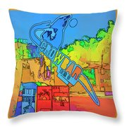 The Crowbar Ybor City Throw Pillow