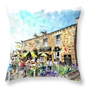 The Crown Hotel In Hawes Throw Pillow