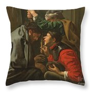 The Crowning With Thorns And The Mocking Of Christ Throw Pillow