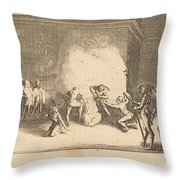 The Crowning With Thorns Throw Pillow