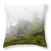 The Crowns In Fog Throw Pillow