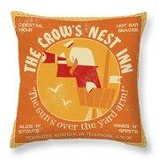 The Crow's Nest Inn Throw Pillow