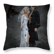 The Crows Wedding Throw Pillow