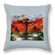 The Crucifixion #1 Throw Pillow by Michael Lucarelli