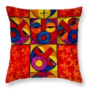 The Crucifix Throw Pillow