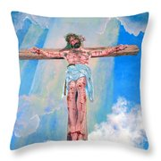 The Crucifixion Daytime Throw Pillow