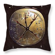 The Crucifixion Of Time Throw Pillow