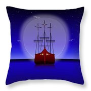 The Crucifixion On The Sea Throw Pillow
