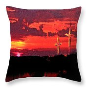 The Crucifixtion Throw Pillow