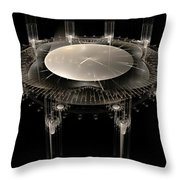 The Crystal Clock Throw Pillow