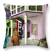 The Crystal Cove At Lilydale Ny Throw Pillow