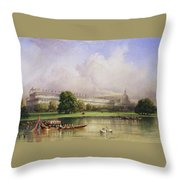 The Crystal Palace Seen From The Serpentine Throw Pillow