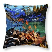 The Crystal Waters Of Lake Tahoe Throw Pillow
