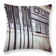 The Cta Train Throw Pillow