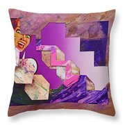 The Cubist Scream Throw Pillow