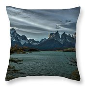 The Cuernos And Lake Pehoe #3 - Chile Throw Pillow