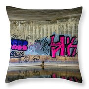 The Cult Of The Shrooms Throw Pillow