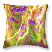 The Cure For Inflation Throw Pillow