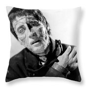The Curse Of Frankenstein Christopher Lee 1957 Throw Pillow