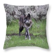 The Curtsy Throw Pillow
