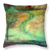 The Curve In The Road Throw Pillow
