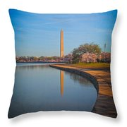 The Curve Of The Basin Throw Pillow
