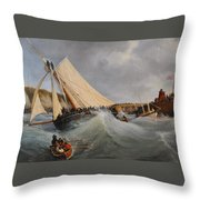 The Cutter Furet In The Service Of Her Royal Highness Throw Pillow
