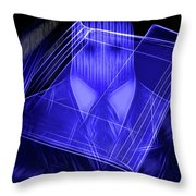 The Cyber Office Throw Pillow